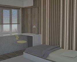 Квартира №1, трехкомнатная, 74,63 м²