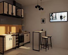 Квартира-студия №10, 26 м<sup>2</sup>