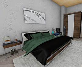 Квартира №8, трехкомнатная, 76,36 м²