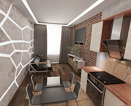 Квартира №11, двухкомнатная, 43,77 м²