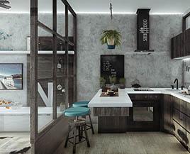 Квартира-студия, однокомнатная, 29 м²